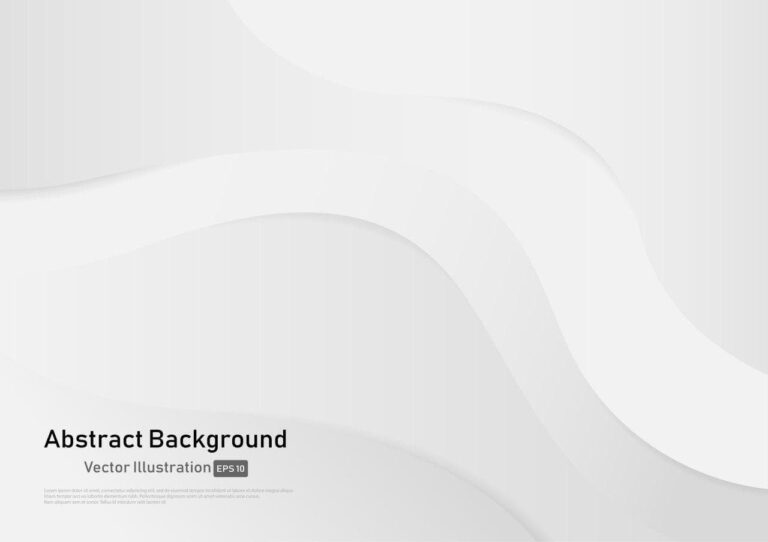 Abstract White and Gray Gradient Color Curve Background
